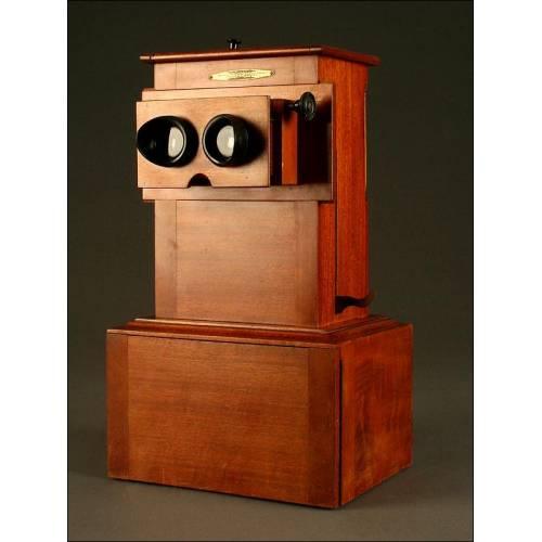 Precioso Estereoscopio Francés Educa Con las 42 Placas Originales. 1920