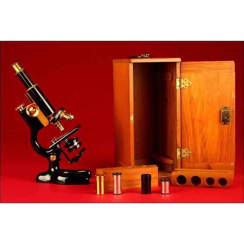 Soberbio Microscopio Profesional Bautsch & Lomb del Año 1897.