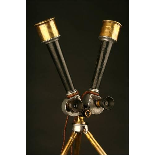 Magnífico Telescopio de Trinchera Alemán de 1.890. Carl Zeiss Jena
