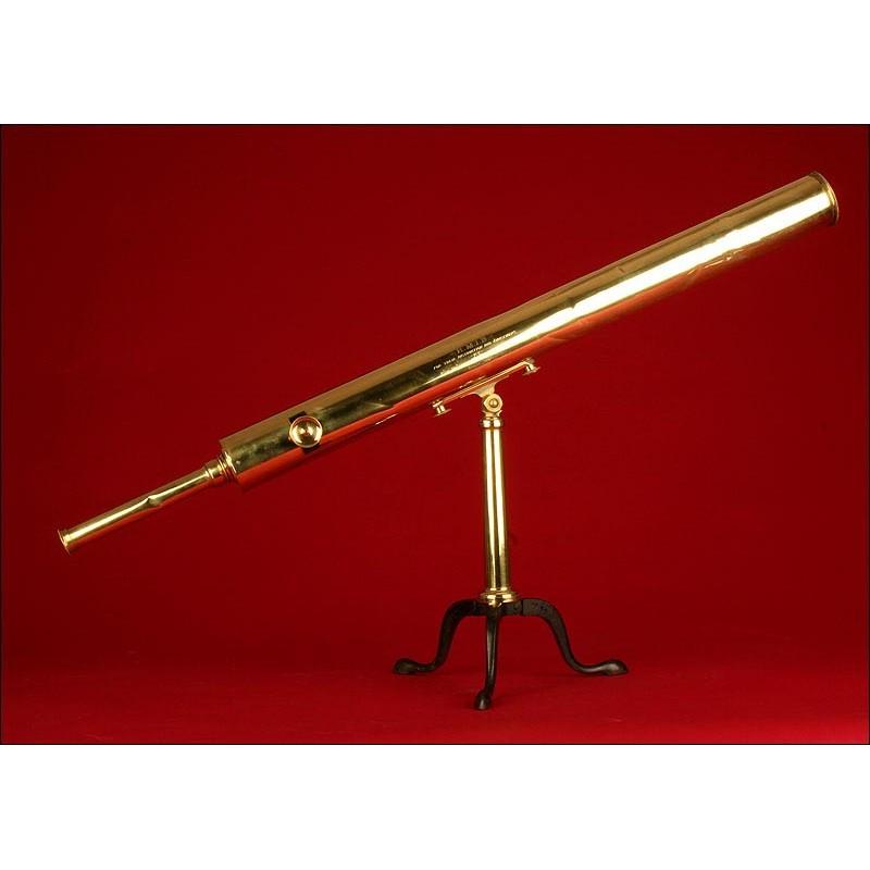 Telescopio Astronómico Inglés de 1907, En Perfecto Estado de Funcionamiento.