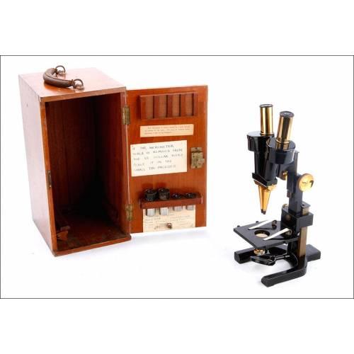 Antiguo Microscopio de Disección W. Watson & Sons. Inglaterra, Circa 1900