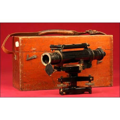 Increíble Nivel de Topógrafo Cook & Sons de Gran Tamaño. Siglo XIX.