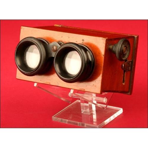 Antiguo Visor Estéreo para Cristales de 43 x 107 mm. Años 20.