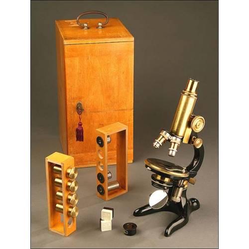 Microscopio Otto Seibert Wetzlar, Alemania, Año 1920