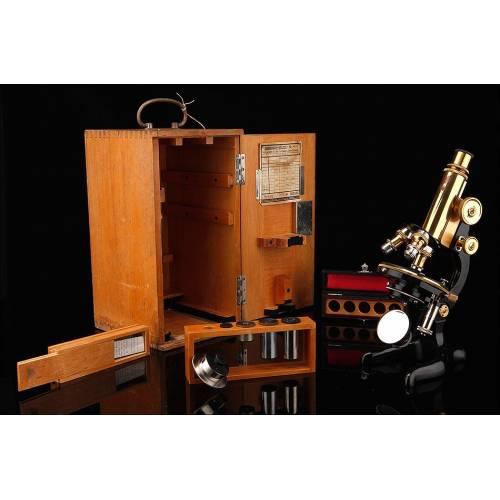 Fantástico Microscopio Leitz Fabricado en Alemania en 1921. Funcionando de Maravilla