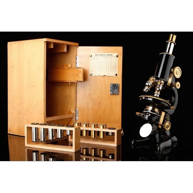 Microscopio Alemán Otto Seibert de 1920. En Excelente Estado de Conservación y Funcionamiento
