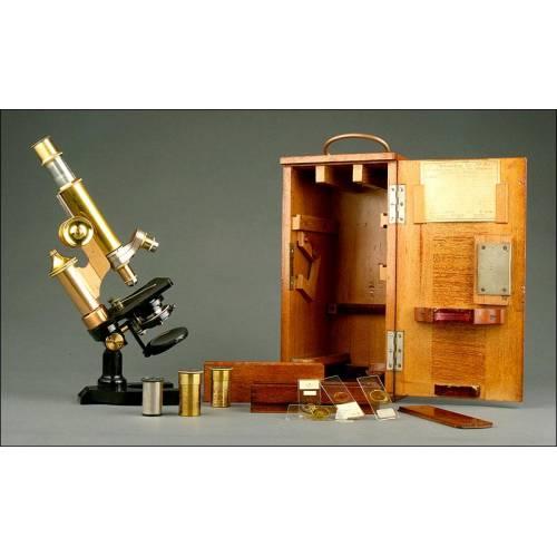 Microscopio E. Leitz Wetzlar fabricado en Alemania en 1906. En Buen Estado y Funcionando