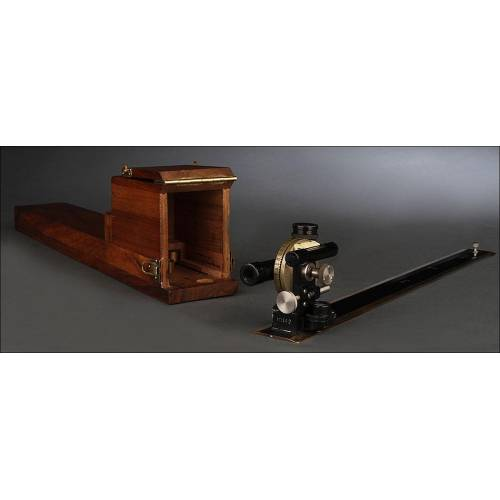 Interesante Inclinómetro, Circa 1915. Funcionando y en Caja de Madera