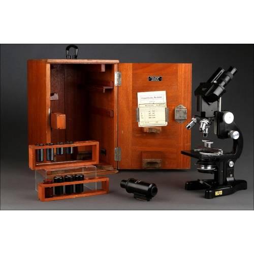 Microscopio Binocular - Monocular Alemán E. Leitz Wetzlar de1948. Perfecto Estado