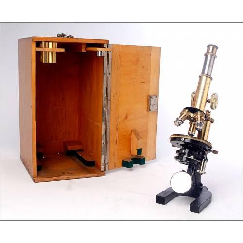 Precioso Microscopio E. Leitz Wetlzar en Excelentes Condiciones. Alemania, 1919