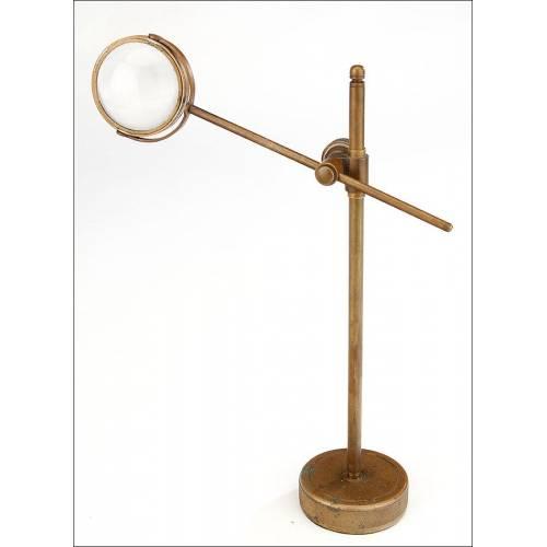 Concentrador de Luz Telescópico para Microscopio. Buen Estado. Siglo XIX