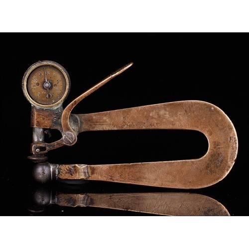 Calibre para Medición de Grosores en Materiales Finos. Posiblememnte para Cuero. París, Siglo XIX