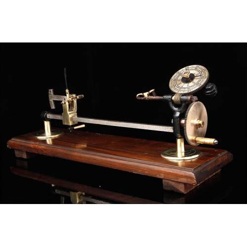 Medidor de Torsión para Hilos Fabricado por John Nesbitt LTD. Inglaterra, S. XIX