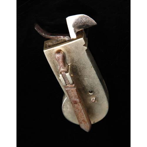 Antiguo Escarificador de Metal Para Uso Médico o Veterinario en Estuche Original. Siglo XIX