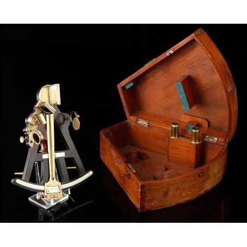 Octante de Navegación W&S Jones en Estado de Museo. Inglaterra, Ca. 1800