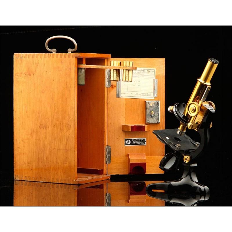 Fantástico Microscopio Vintage Enrst Leitz. Alemania, 1929. Funcionando y con Estuche