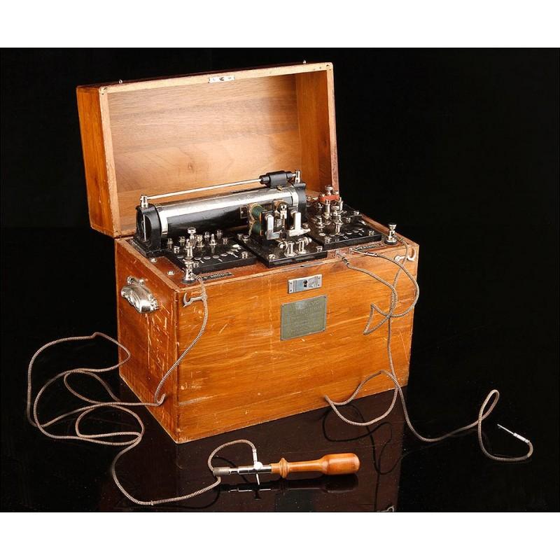 Importante Equipo de Electromedicina en Buen Estado. Alemania, Circa 1900. Completo