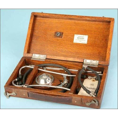 Fonendoscopio Bin-Aural para auscultar motores. 1940