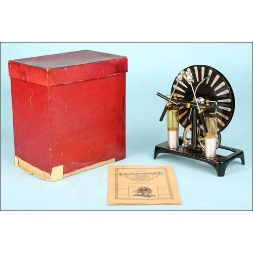 Máquina condensadora de electricidad estática. 1910