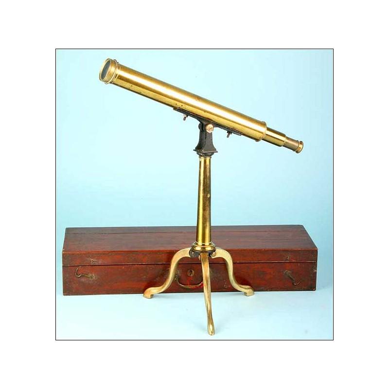 Telescopio de sobremesa Negretti & Zambra. S. XIX