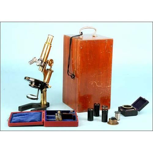 Antiguo microscopio Carl Zeiss-Jena, 1910