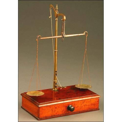 Balanza de Precisión de joyero o de fotógrafo, Inglaterra, S. XIX