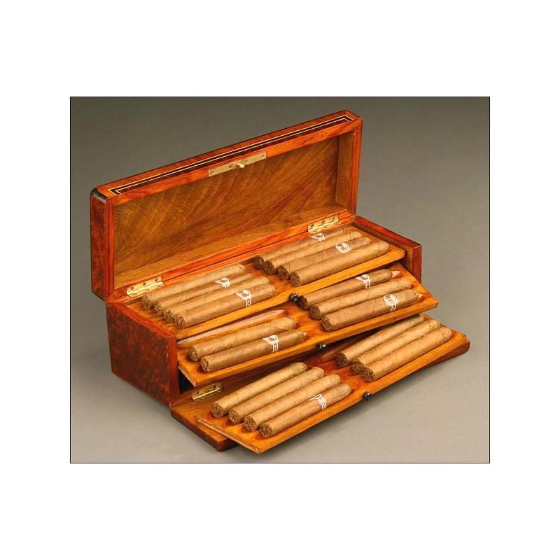 Caja de Cigarros en raíz de tuya. Francia, S. XIX