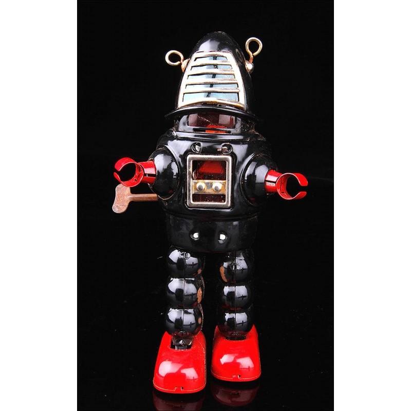 Encantador Robot Vintage de Hojalata en Funcionamiento.
