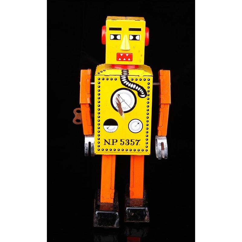 Precioso Robot Mecánico Vintage en Estado de Funcionamiento.