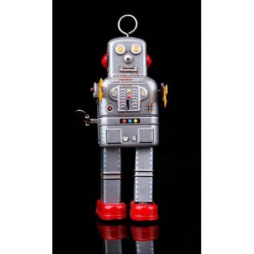Nostálgico Robot Mecánico Vintage Realizado en Hojalata.