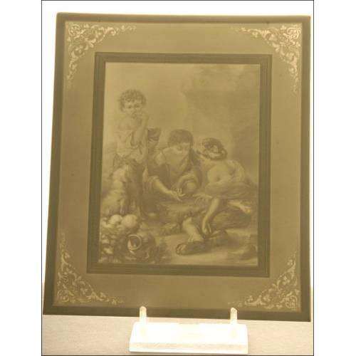Litofanía de Porcelana, S. XIX. En Perfecto Estado de Conservación. Firmada y Numerada