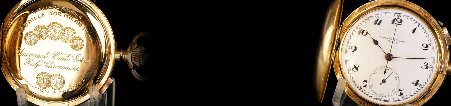 Reloj Bolsillo oro 18K Unversal Minutos